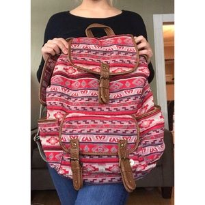 Cute, Red Tribal Backpack from Aeropostale